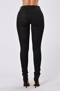 Zip It Up Jeans - Black