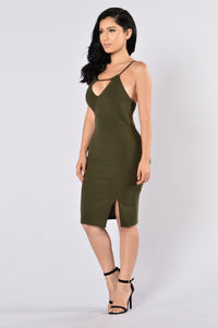 Looking Fine Dress - Olive