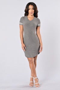Recreation Dress - Charcoal Angle 1