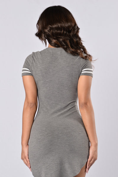 Recreation Dress - Charcoal