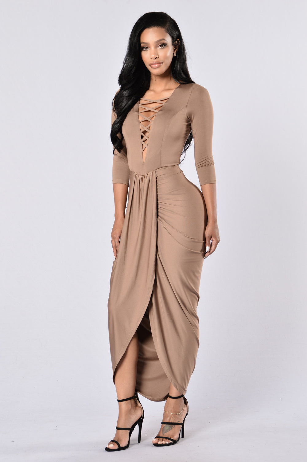 Free Like A Bird Dress - Mocha
