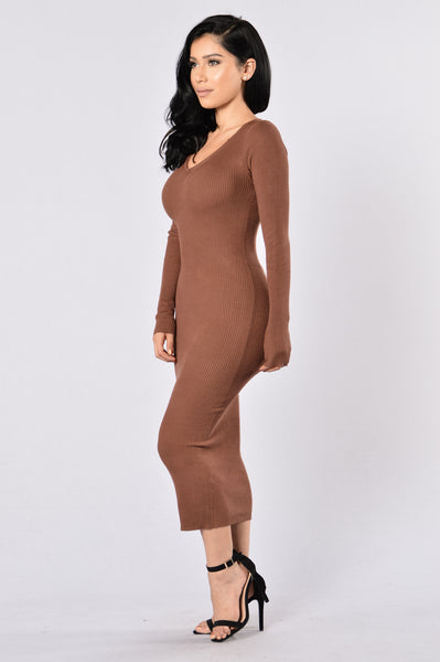 Minimum Security Dress - Brown