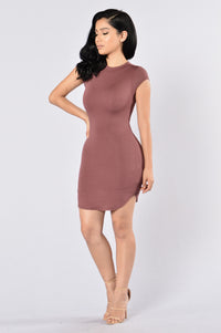 Saturday Night Dress - Red Brown