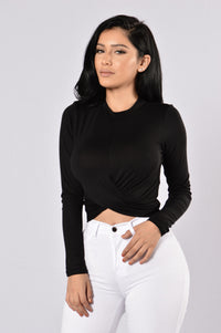 Knot Thinking About You Top - Black Angle 1