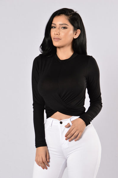 Knot Thinking About You Top - Black