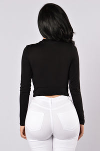 Knot Thinking About You Top - Black Angle 2