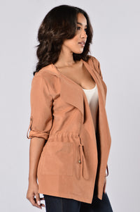 Cher Jacket - Rust Angle 4