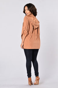 Cher Jacket - Rust Angle 7