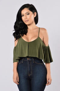 Show A Little Bodysuit - Olive Angle 1