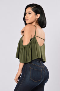 Show A Little Bodysuit - Olive Angle 3