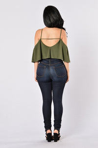 Show A Little Bodysuit - Olive Angle 5