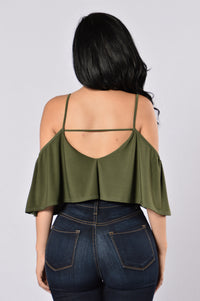 Show A Little Bodysuit - Olive Angle 2