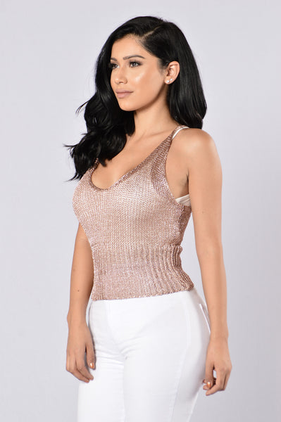 Cabo Cutie Top - Rose Gold