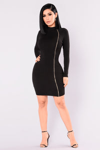 Sutton Knit Dress - Black