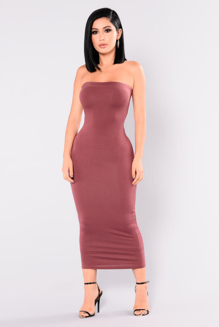 Eva Dress - Red Brown