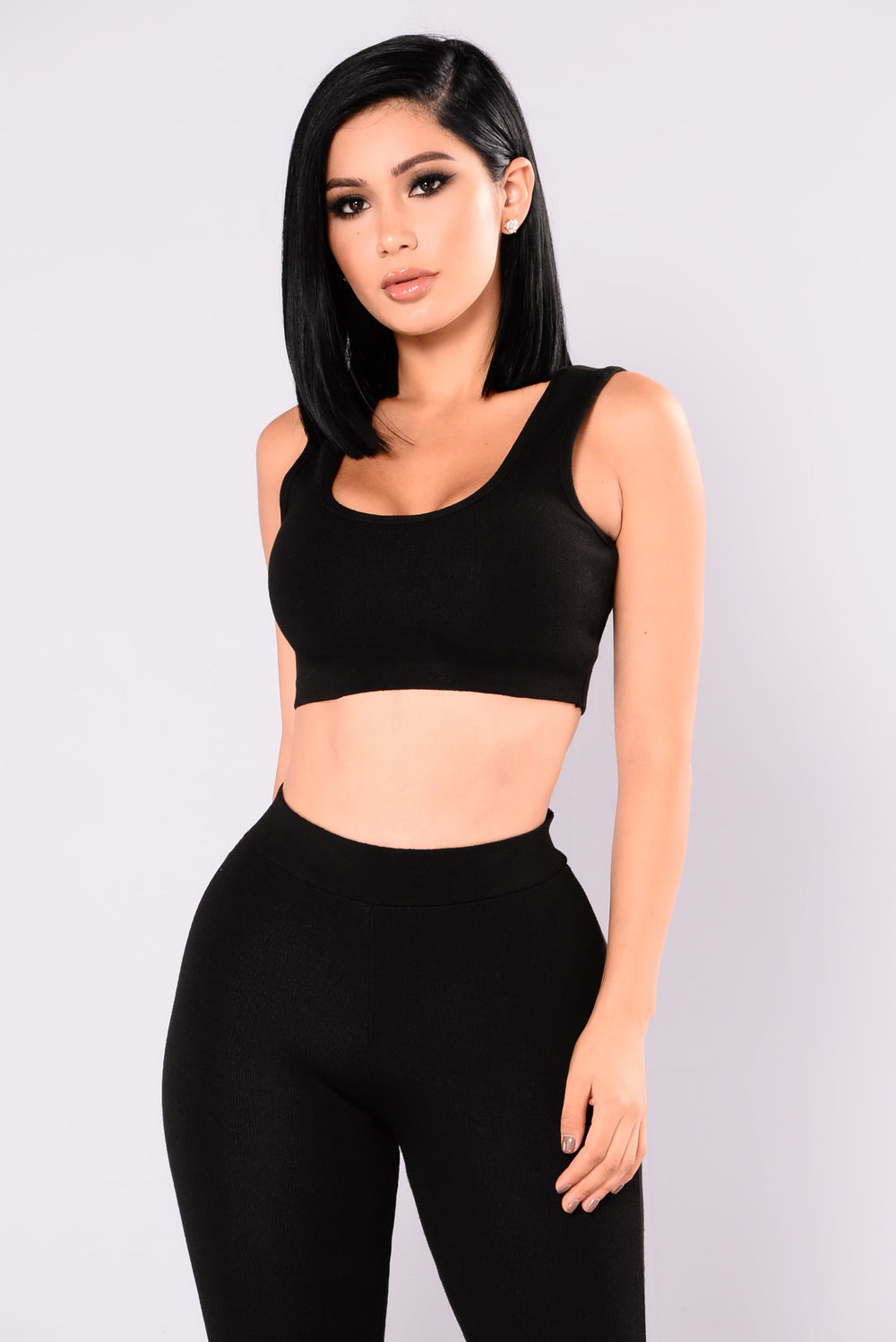 Sonja Crop Top - Black