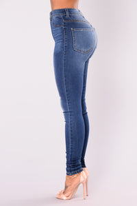 Don't Front Skinny Jeans - Dark Denim