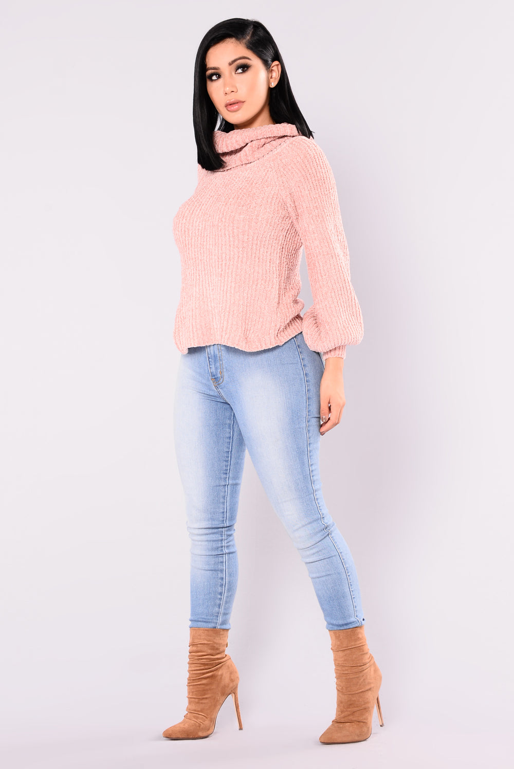 Juniper Oversized Sweater - Dusty Pink