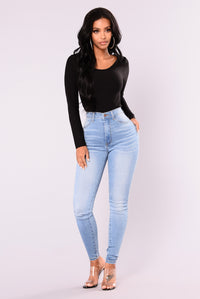 Slice and Dice Cutout Bodysuit - Black