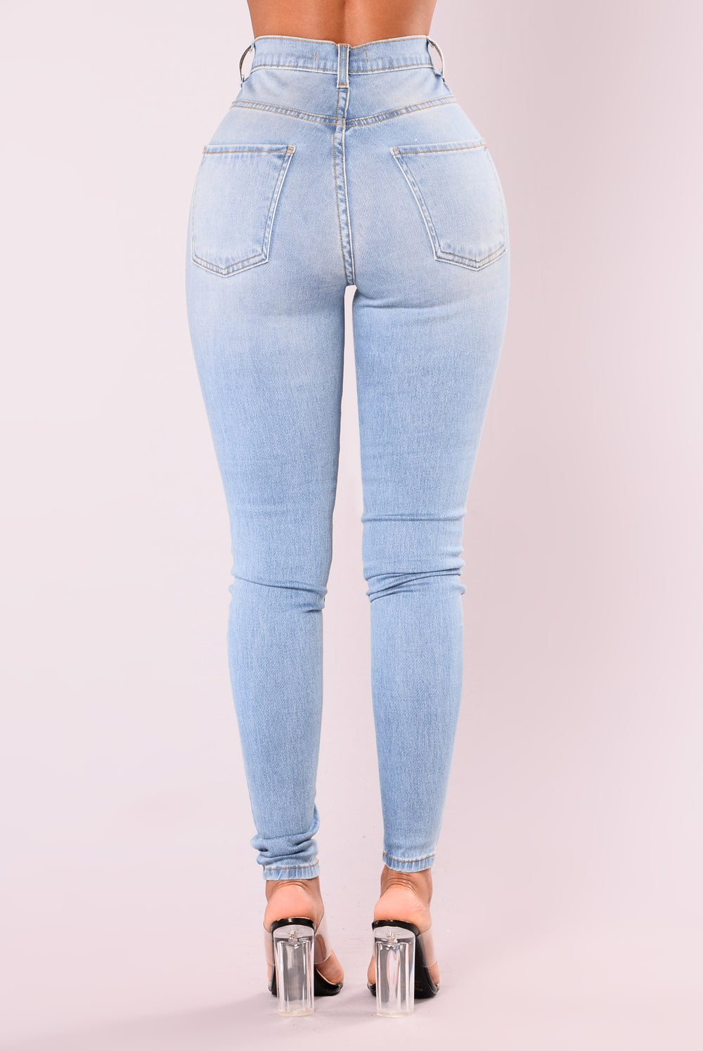 Don't Front Skinny Jeans - Medium Denim