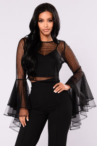 Eireen Mesh Top - Black