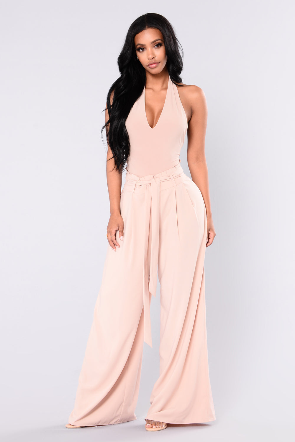Carly Shay Waist Tie Pants Nude