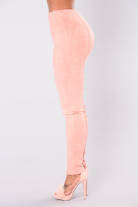 Siena Stretch Suede Pants - Mauve