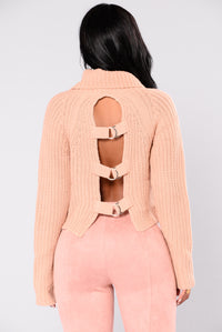 Back At It Turtleneck Sweater - Pink