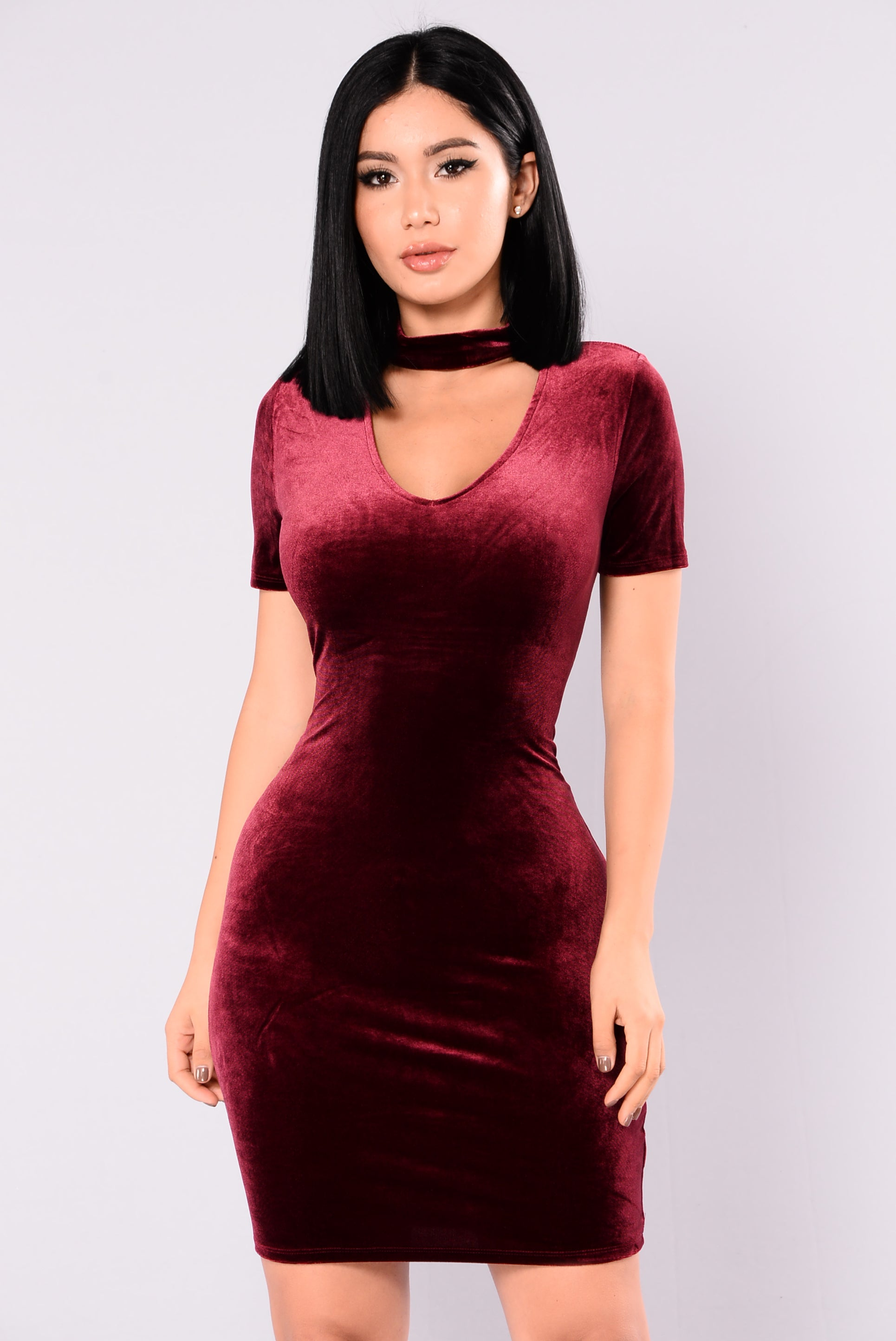 54635433847 Velvet Burgundy Dress Fashion Nova – All About The Dress A Bridal ...