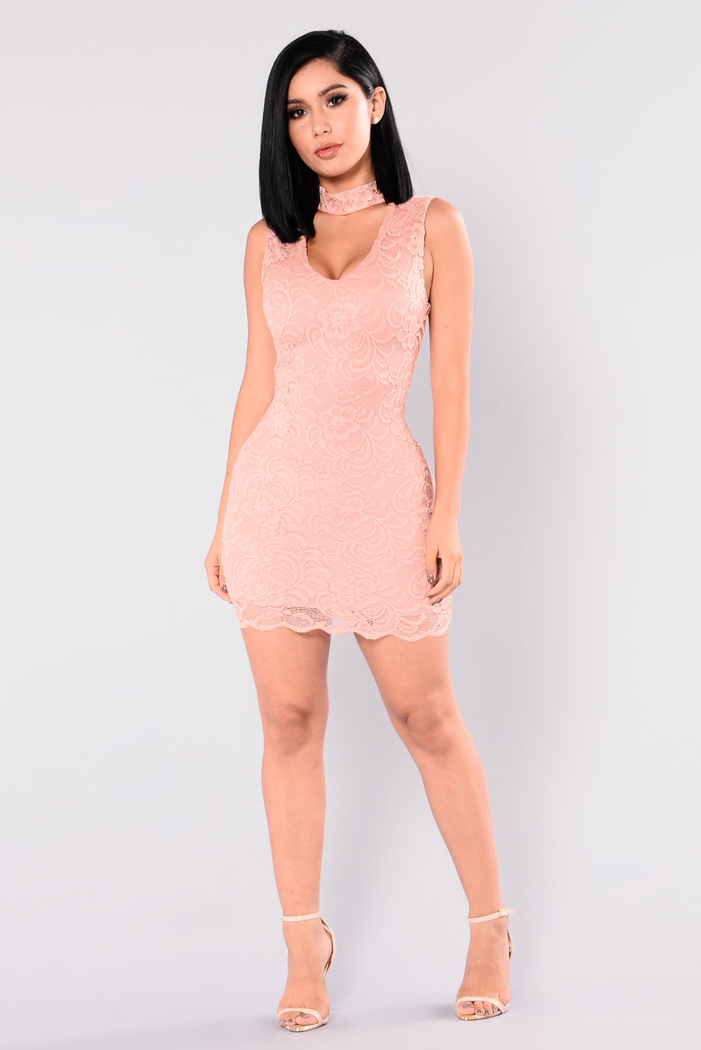 Silvia Lace Dress - Mauve