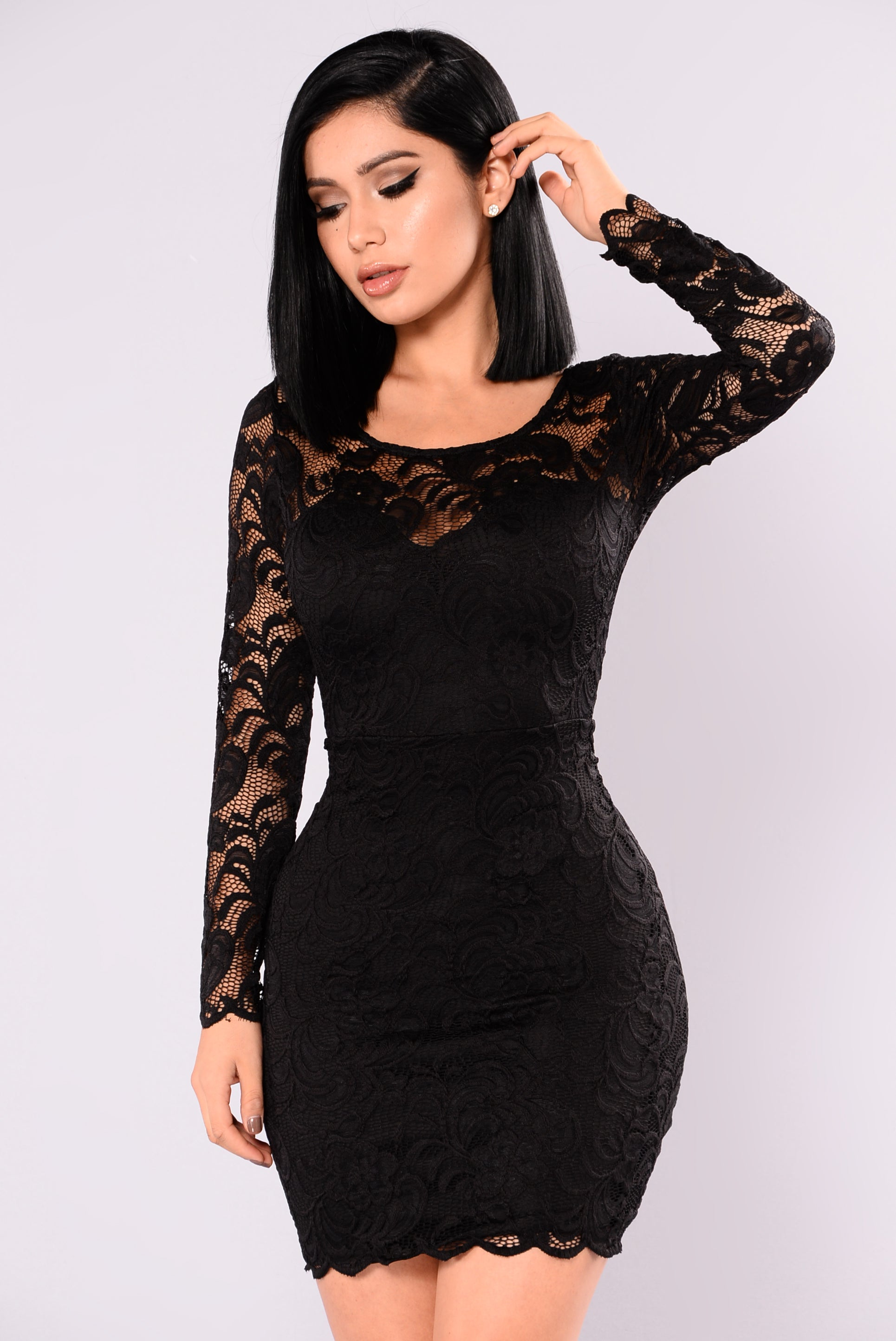 Marnie Lace Dress - Black