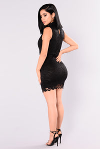 Silvia Lace Dress - Black