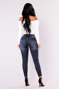 Arctic Fox Ankle Jeans - Dark Denim