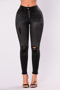 Do Re Mi Ankle Jeans - Black