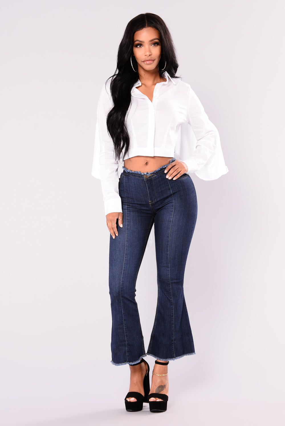 Katherine Fit And Flare Jeans - Dark