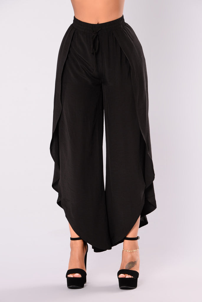 Do Your Thang Slit Pants - Black