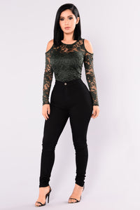 Tay Lace Top - Hunter Green