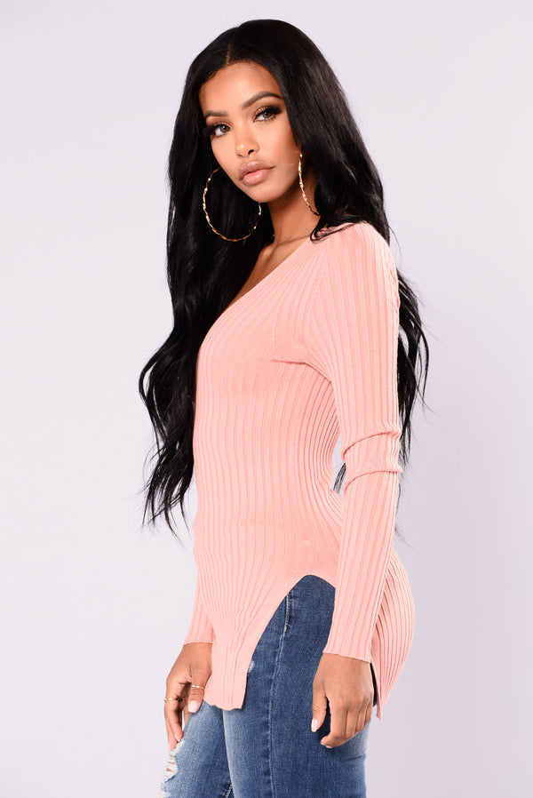 5bf614527dba Giving Me The Feels Sweater - Mauve