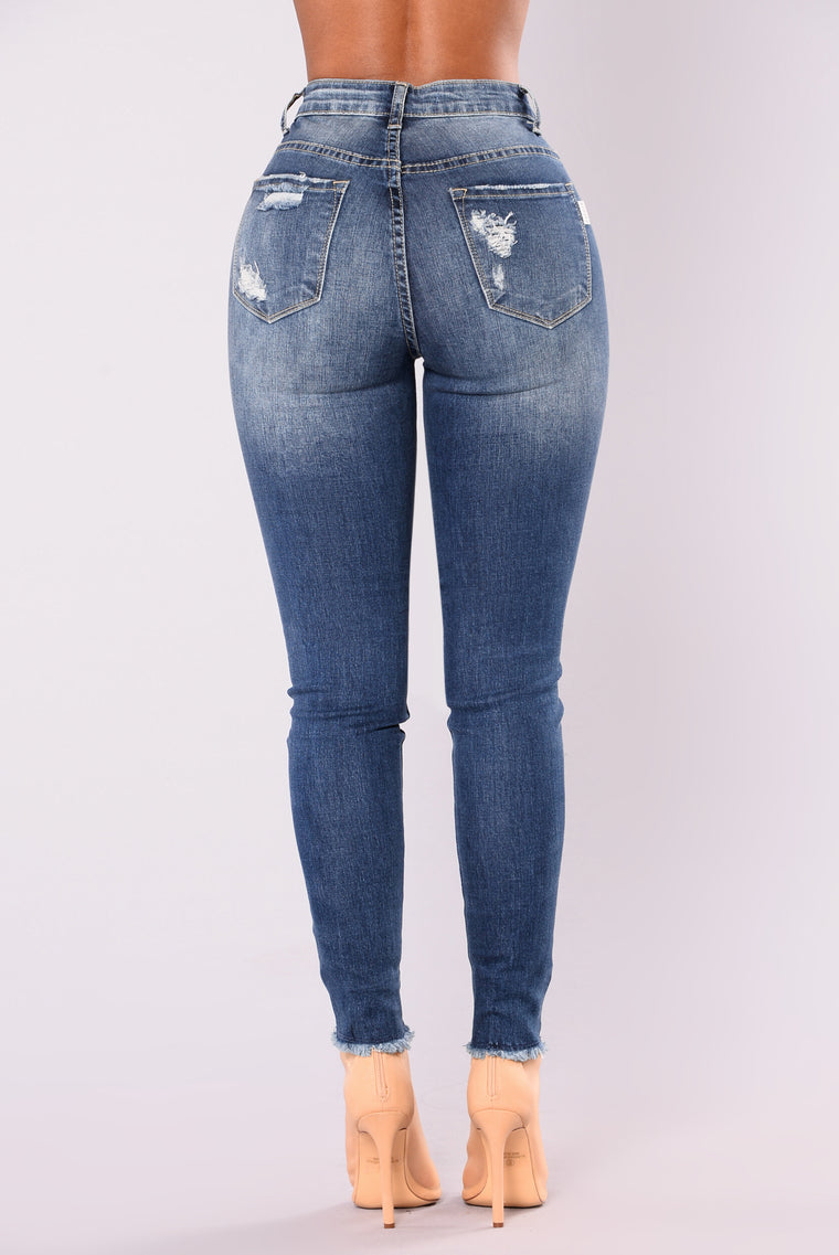 Just Landed Skinny Jeans - Medium Blue Wash