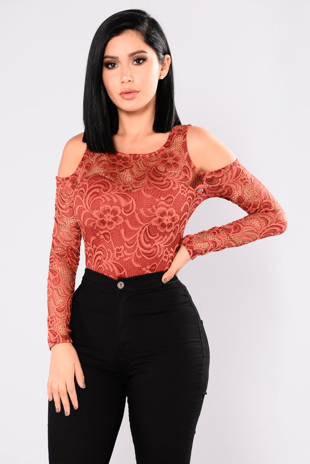 Tay Lace Top - Marsala