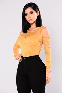 Tay Lace Top - Mustard