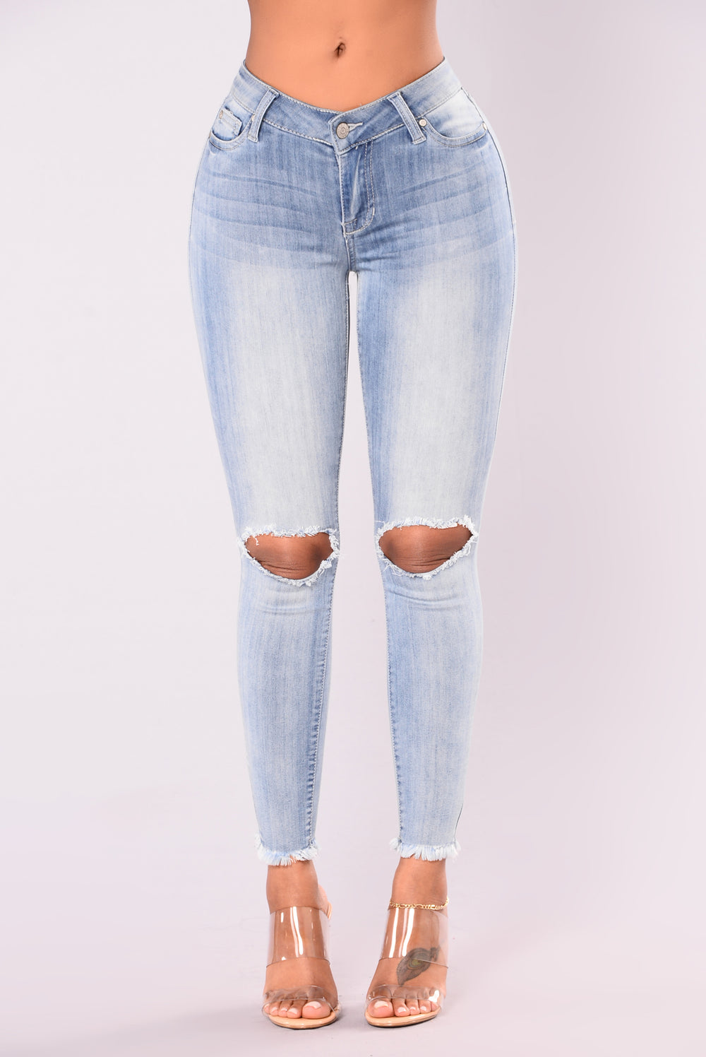 Mind Your Manners Ankle Jean - Medium Blue Denim