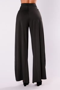 Sexy Slit Pants - Black