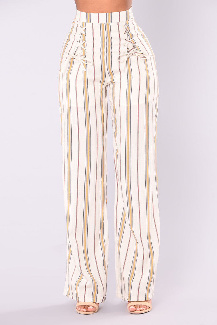 Lemonade Stand Striped Pants - Yellow