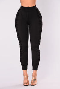 Cassie Ruffle Pants - Black