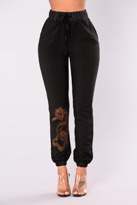 Year Of The Dragon Joggers - Black