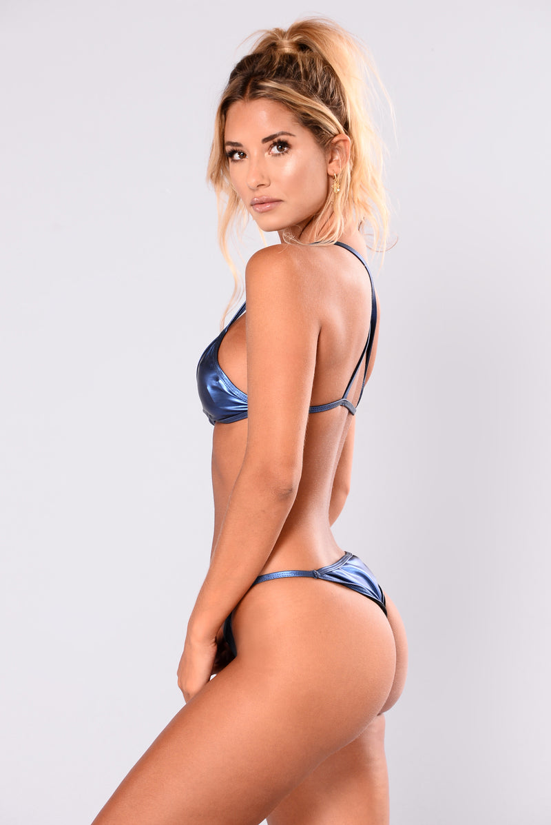Mini Metallic Bikini - Blue