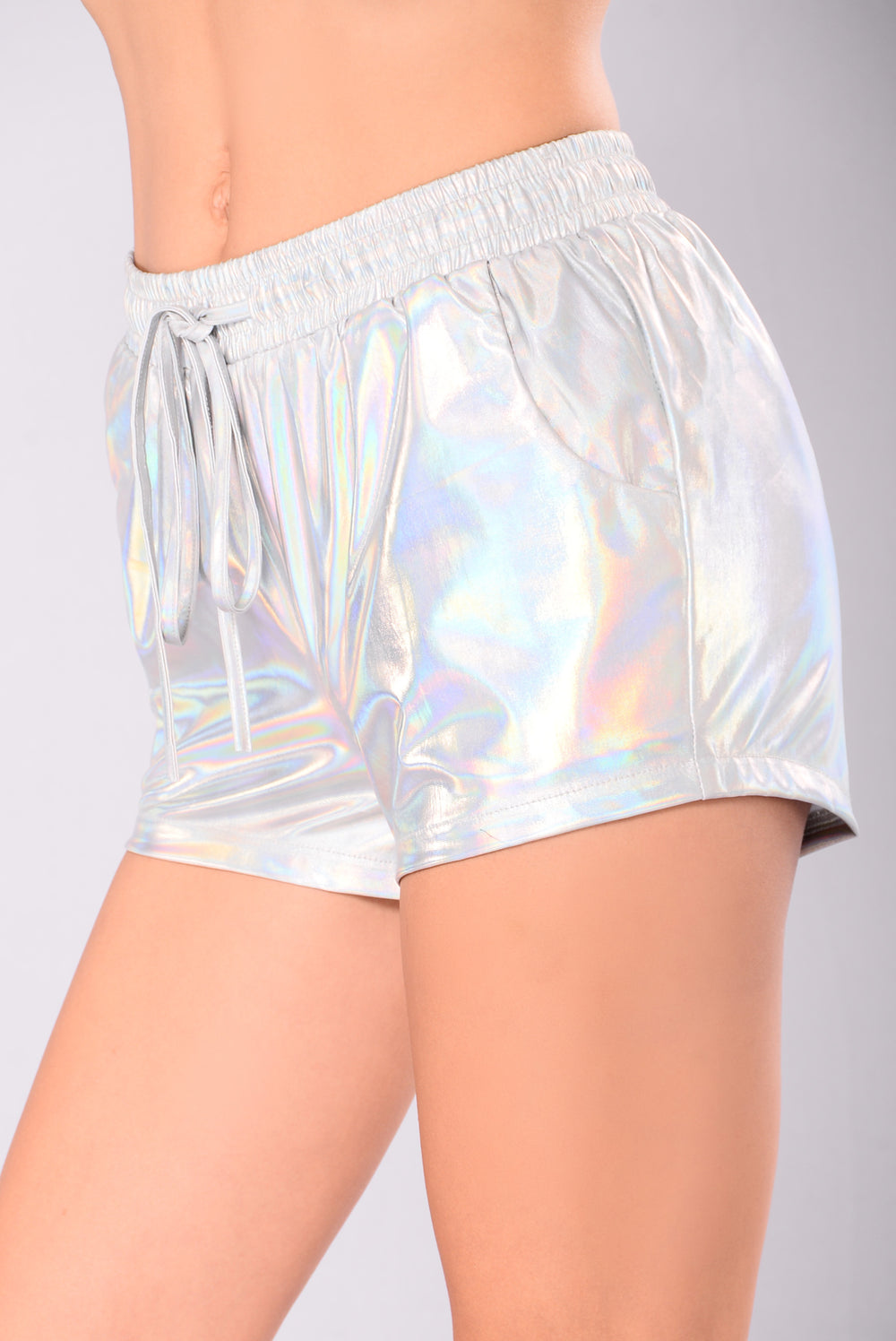 Wavy Baby Active Shorts - Iridescent