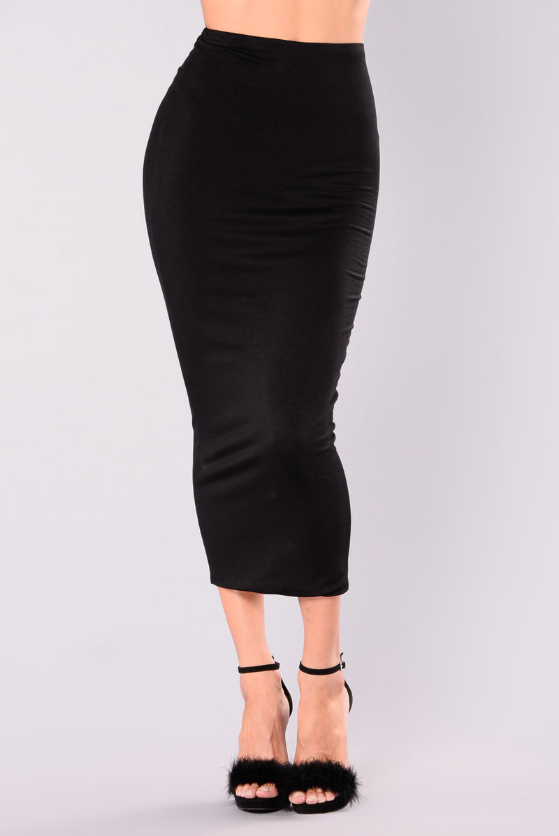 Couldn't Be Bothered Skirt - Black