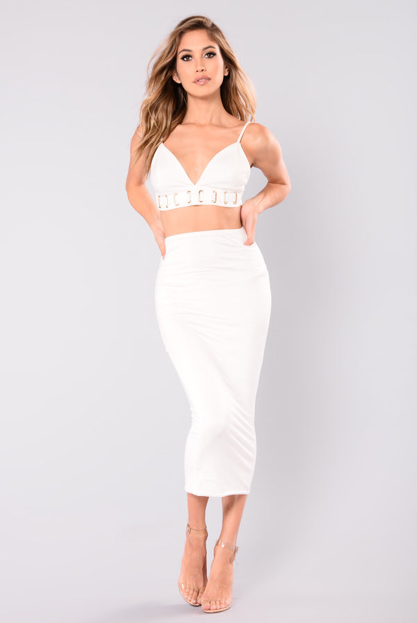 e491f25f4a9 Couldn t Be Bothered Skirt - Ivory